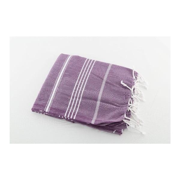 Fioletowy ręcznik Hammam Sultan, 100x180 cm