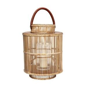 Lampion bambusowy Hübsch Viol, wys.31cm
