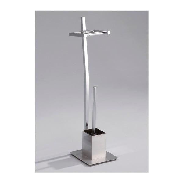 Metalowy stojak na na papier toaletowy i szczotkę do WC Tomasucci Kiko