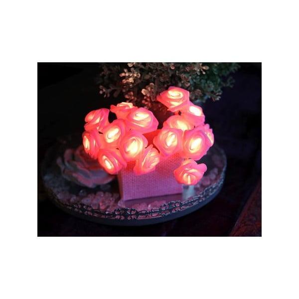 Świecący łańcuch LED Best Season Pink Roses