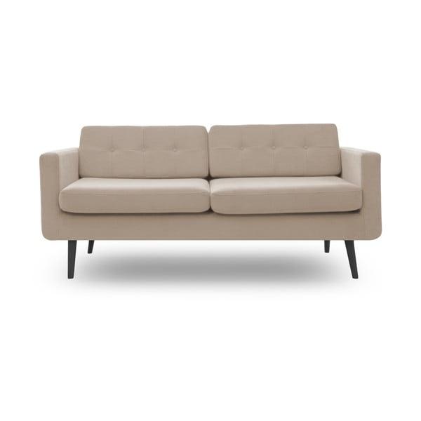 Bezowa sofa trzyosobowa z czarnymi nogami Vivonita Sondero
