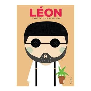 Plakat NiñaSilla Leon, 21x42cm