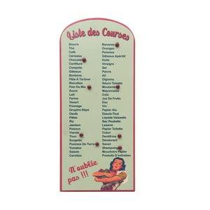 Tablica z listą zakupów List