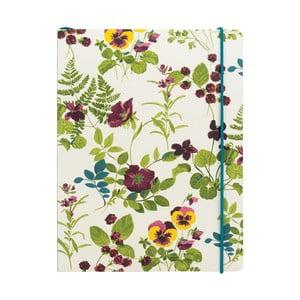 Notatnik w linie A5 Laura Ashley Parma Violets by Portico Designs, 80str.