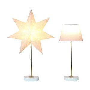 Świecąca   lampa i gwiazda, komplet Best Season White