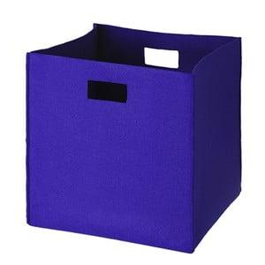 Filcowe pudełko 36x35 cm, niebieskie