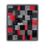 Dywan skórzany Red Rivoli, 150x210 cm