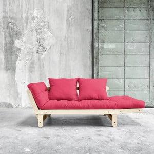 Sofa rozkładana Karup Beat Natural/Magenta