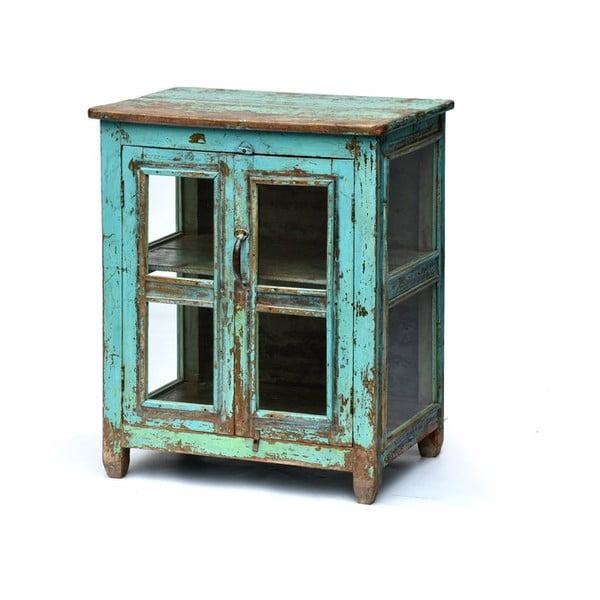 Szafka z witrynką Goa 65x79 cm, niebieska patyna