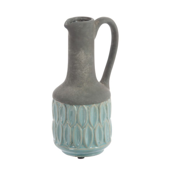 Wazon Deco in Grey and Blue 25 cm
