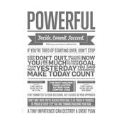 Plakat autorski Powerful Grey, 50x70 cm