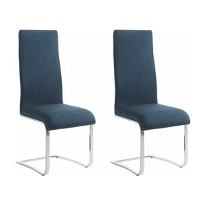 Zestaw 2 niebieskich krzeseł Støraa Teresa