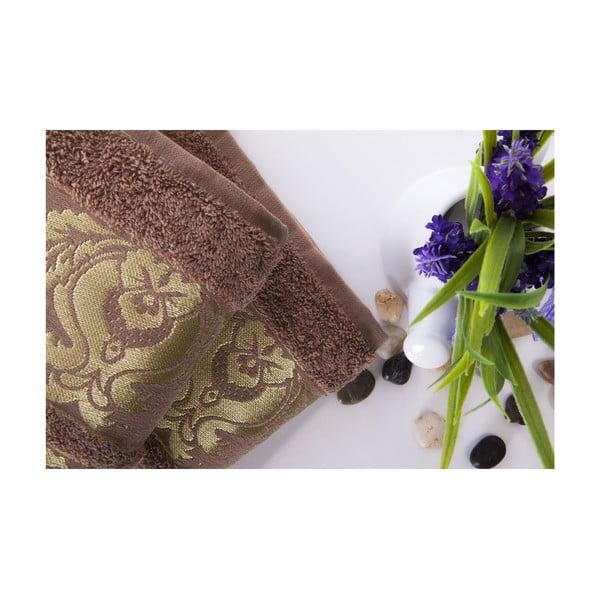Zestaw 2 ręczników Antik Gold Light Brown, 50x90 cm