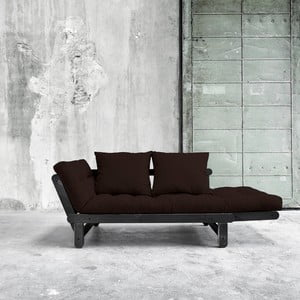 Sofa rozkładana Karup Beat Black/Brown