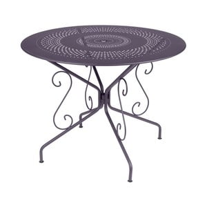 Liliowy stół metalowy Fermob Montmartre, Ø 96 cm