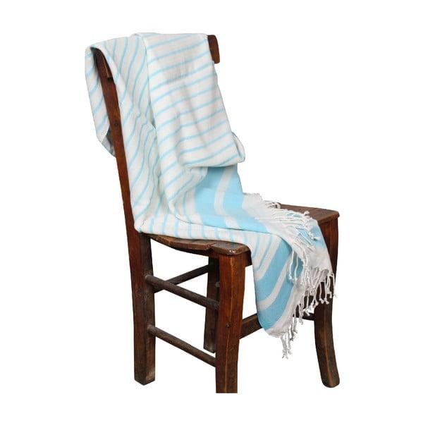 Ręcznik hammam Aqua Turquoise, 90x190 cm