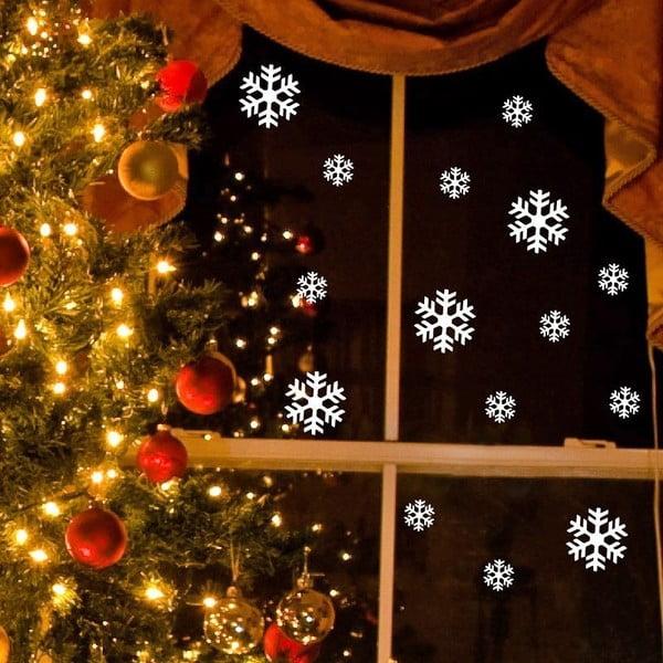 Elektrostatyczna naklejka świąteczna Ambiance Bright White Snow