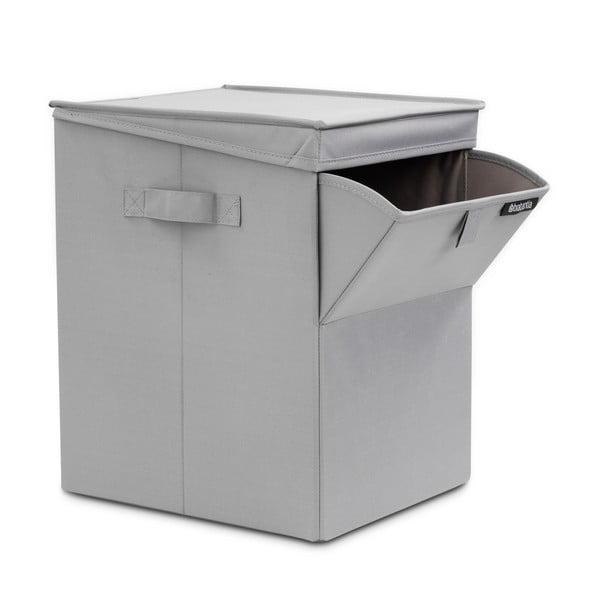 Szary pojemnik na pranie Brabantia Hit Grey, 35 l