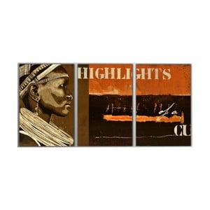 Trzyczęściowy obraz Highlights, 45x90 cm