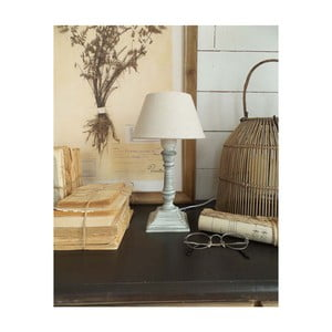 Szara lampa stołowa z drewna Orchidea Milano, 30 cm