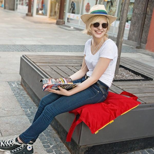 Przenośne siedzisko + torba Hhooboz 50x60 cm, czerwone
