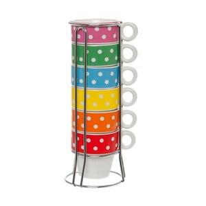 Zestaw 6 kubków na stojaku Ristretto Mini Dots