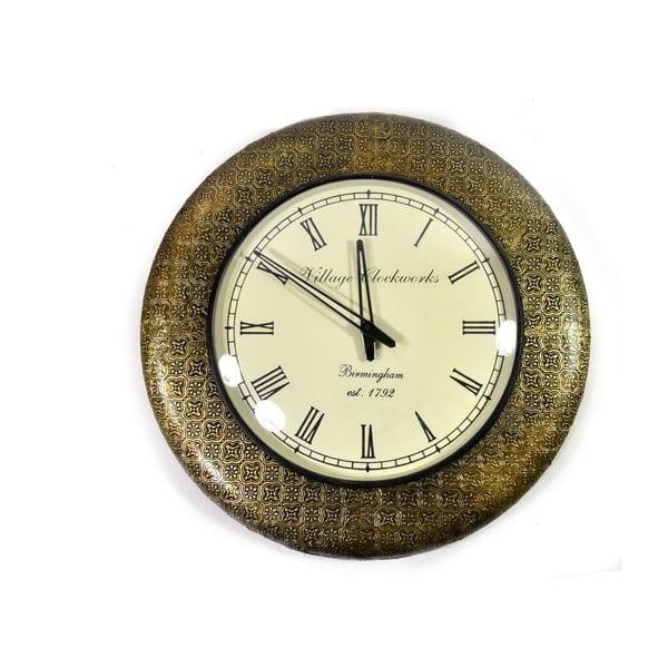Zegar ścienny z kutego metalu Diu, 47 cm