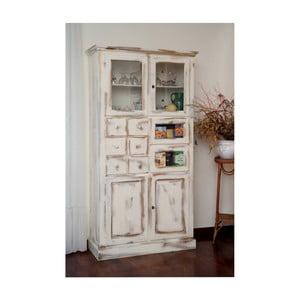 Biała witryna drewniana Castagnetti Gothic