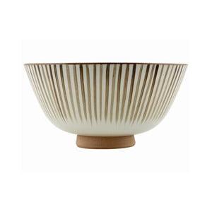 Ręcznie malowana miska Stripes Brown, 20x10 cm