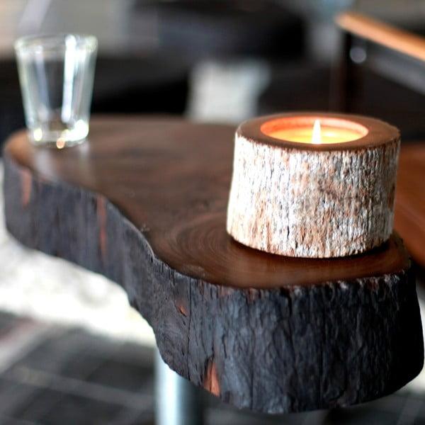 Palmowa świeczka Legno o zapachu white musk, 40 godzin palenia