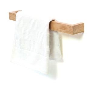 Uchwyt ścienny na ręczniki z drewna dębowego Wireworks Mezza, 60 cm