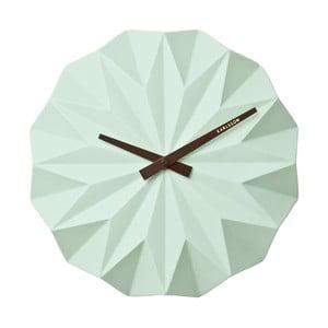 Mietowy zegar ścienny Present Time Origami