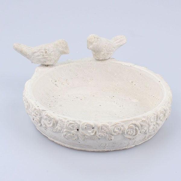 Szare poidełko betonowe dla ptaków Dakls III