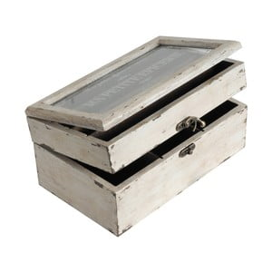 Drewniana szkatułka White Antic
