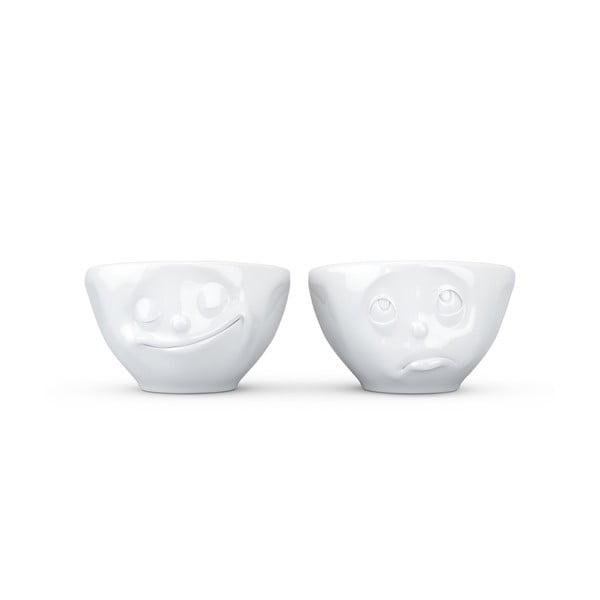 Biały komplet szczęśliwych filiżanek 58products, 100 ml