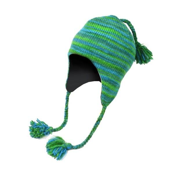 Wełniana czapka z uszami Spacedye Tyrkys