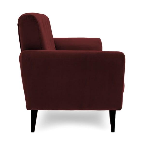 Bordowa sofa dwuosobowa Vivonita Klara