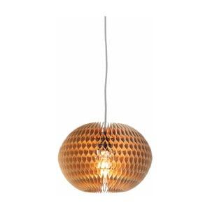 Brązowa lampa wisząca z kartonu Good&Mojo Yucatan, ø 31,5 cm