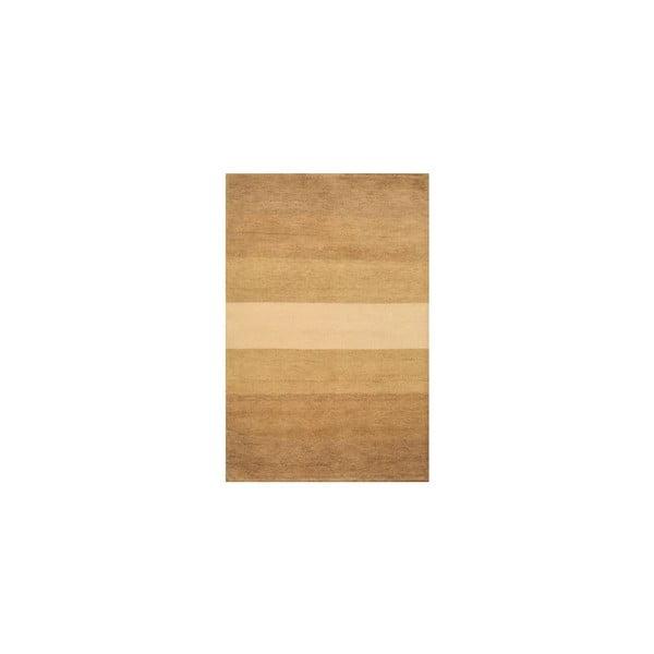 Dywan wełniany Baku Stripe Beige, 70x140 cm
