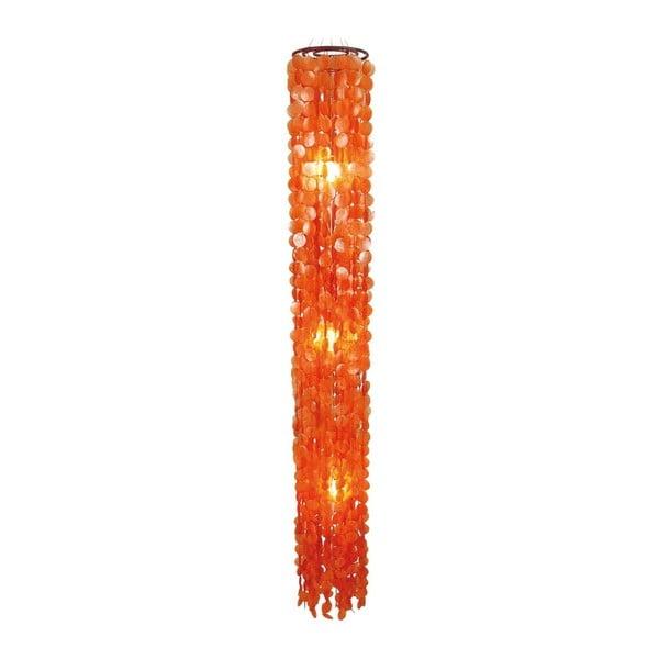 Pomarańczowa lampa wisząca Naeve Spinnwebe