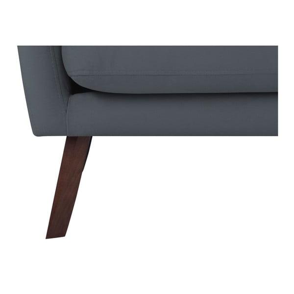 Ciemnoszara sofa 2-osobowa Mazzini Sofas Elena