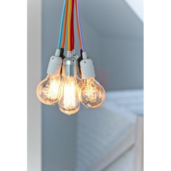 Złoto-czarna lampa wisząca Bulb Attack Uno