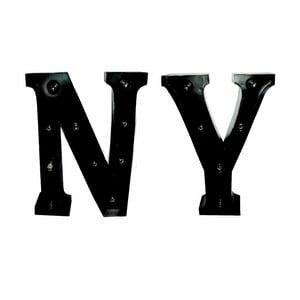 Świecący napis NY