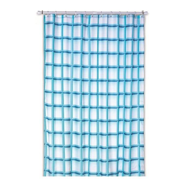 Zasłona prysznicowa Lamara, turkusowa, 180x200 cm