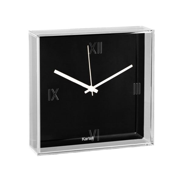 Czarny zegar Kartell Tic & Tac New