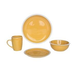 Komplet naczyń Inca Yellow, 16 szt.