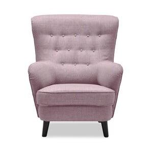 Różowy fotel Vivonita Fifties