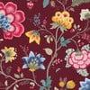 Tapeta Pip Studio Floral Fantasy, 0,52x10 m, bordowa