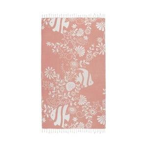 Pomarańczowy ręcznik hammam Kate Louise Helene, 165x100 cm