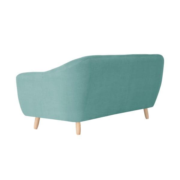 Miętowa sofa trzyosobowa Jalouse Maison Vicky